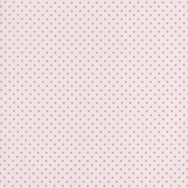 Stofcoupon RZ13 wit-roze stipje 33 x 33 cm