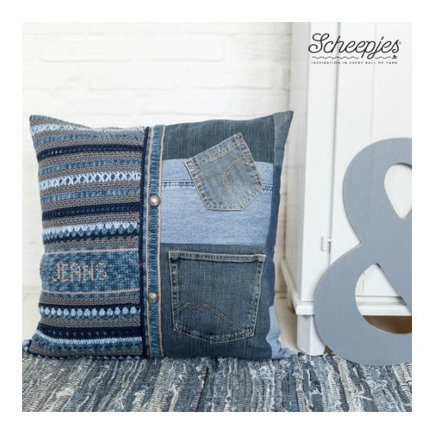 Haakpatroon 10. kussen Jeans