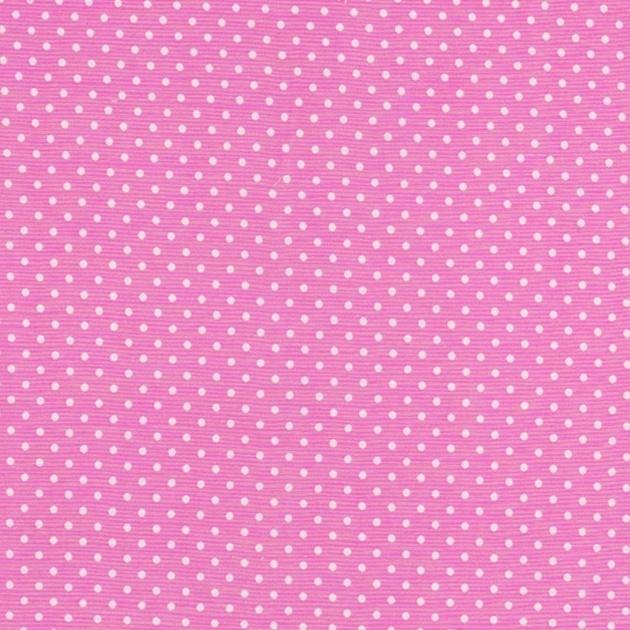 Stofcoupon RZ14 roze-wit stipje 33 x 33 cm