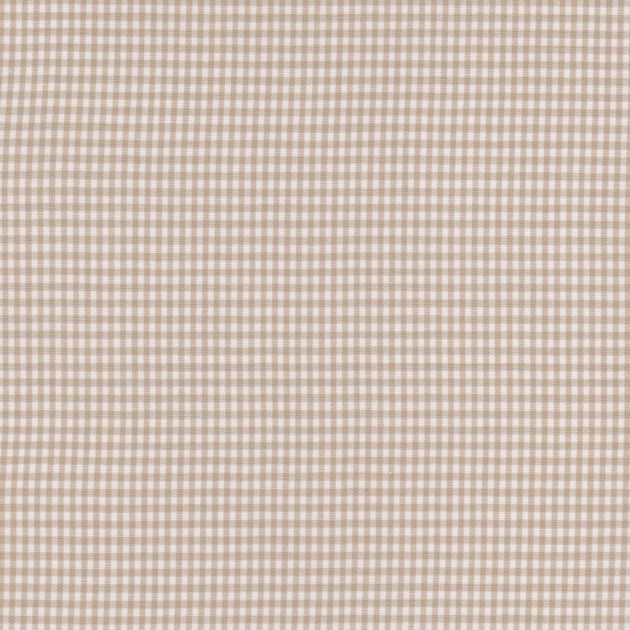 Stofcoupon B05 beige-wit ruitje 33x33 cm
