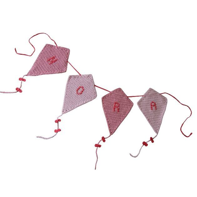Haakpatroon nr. 102 vlaggenlijn vlieger 'Nora'