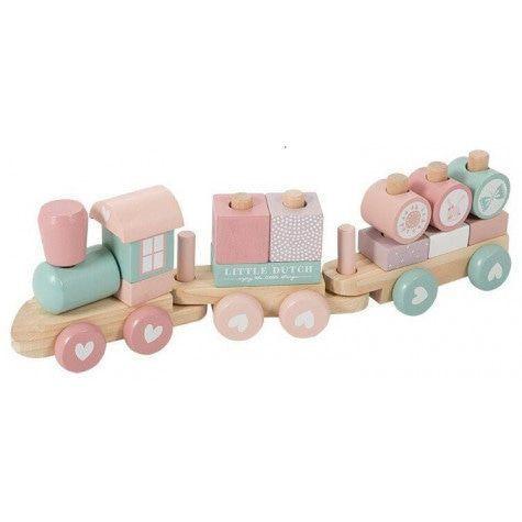 Gepersonaliseerde houten trein, roze