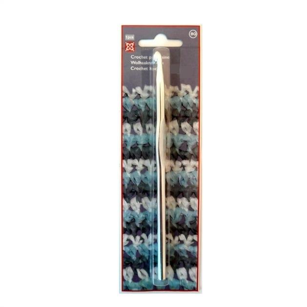 Haaknaald, roestvrijstaal, dikte 3 mm