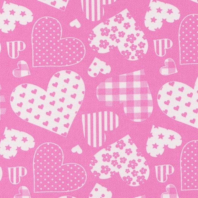 Stofcoupon RZ10 roze patchwork hart 33 x 33 cm