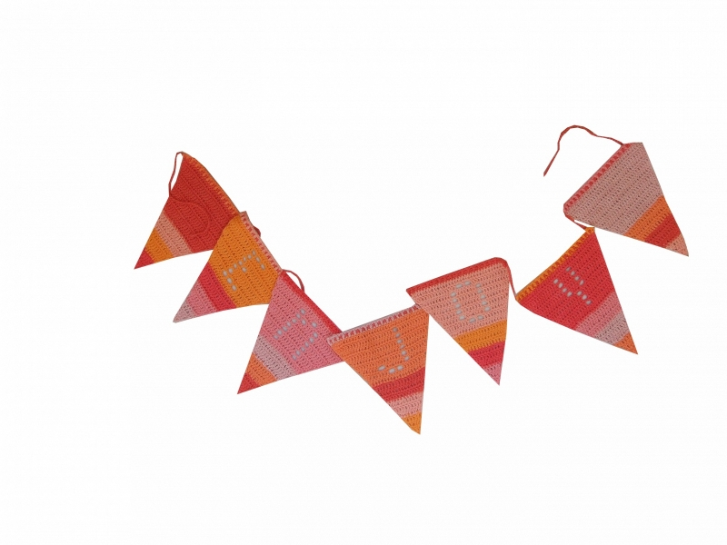 Haakpatroon nr. 48  vlaggenlijn 'Letters en cijfers'