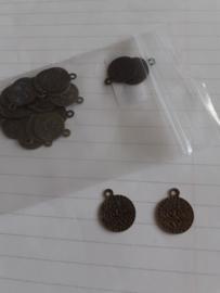 Oosterste munt, bedel 13 mm Antiek Brons