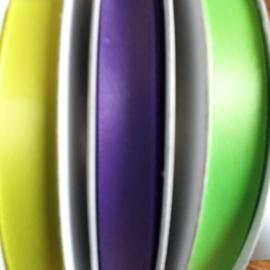 satijnlint 10 mm, in diversen kleuren