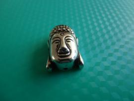 Boeddha kraal, 23 x 15 mm,  metal look