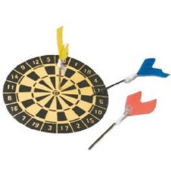 dartbord ca 4cm met 3 pijlen Miniatuur   Stafil C5921-78