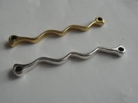 Golf,tussenzetsel ca. 5 cm.Goud-of Zilverkleurig