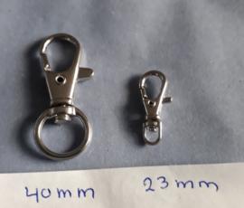 sleutelhanger metaal karabijn diversen maten