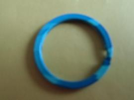 Sleutelring metaal 30 mm- ring -blauw