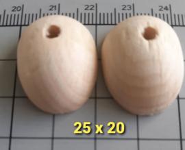 poppenvoetje hout ca 25 x 20 mm prijs is per paar