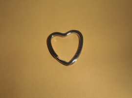 Sleutelring hartvormig-Nikkel
