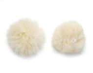 Pluizenbollen, pompons  60 mm Beige