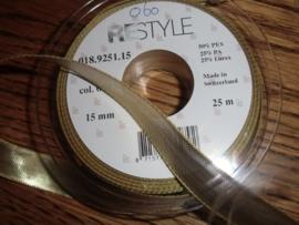 Lint Kerst Lurex 15 mm breed, goudkleurig