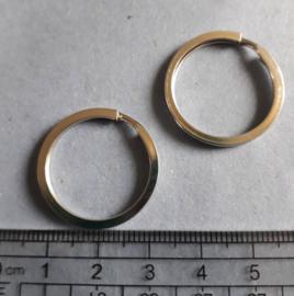 Sleutelring metaal 25 mm, Antiek zilverkleurig , 1701