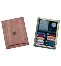 Miniatuur naaidoosje 3 x 2,5 cm Stafil 3396-181