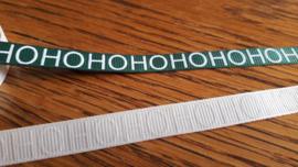 Kerstlint ecru met de tekst Hohohoho