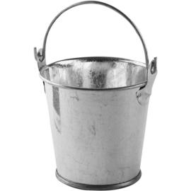 Mini emmer zink met beweegbare hengsel 55 mm doorsnee  en 50 mm hoog