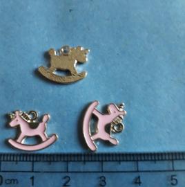 Hobbelpaard bedel metaal deep goldsalmon pink, 440