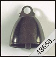koe klok cq. bel   zwart 14 mm