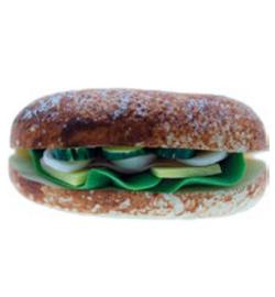 Broodje gezond miniatuur ca. 2 x 1 cm, Stafil  3396-271