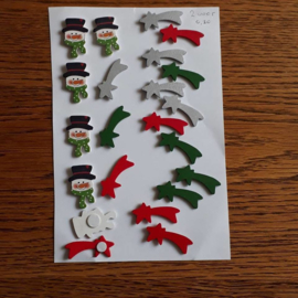 Kerstfiguurtjes met plakker
