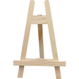ezel mini hout - ideaal voor het presenteren van mini canvassen. Diepte plank: 12 mm . h: 25 cm