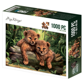 legpuzzel 1000 stukjes , Amy Design- Wild animals -Cubs