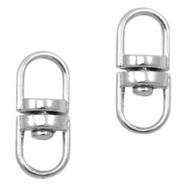 sleutelhangers tussenstuk 20 mm in antiek zilver