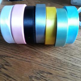 Satijnlint 20 mm, diversen kleuren