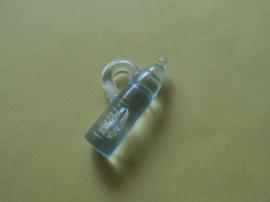 Papflesje hangertje kunststof- blauw