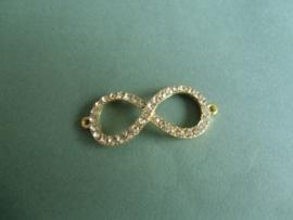 Infinity teken met strass- Goudkleurig