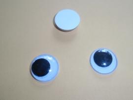 Ogen beweegbaar,plakbaar, 20 mm