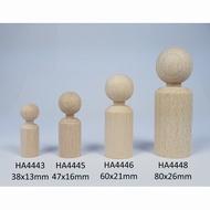 Kegelpopje recht 38 x 13 mm met nekje