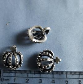 Kroon, bedel antiek zilverkleurig, 476