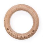 Durable bijtring hout met Sweat dreams
