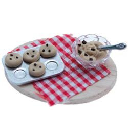 Koekjes op een plank miniatuur 4,5 cm , Stafil 3396-301