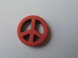 Vrede / Peace teken, Oranje.natuursteen kraal,