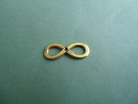 Infinity teken - oudgoudkleur- met kastje voor 2 mm similisteen