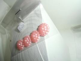 Flatback's met bolletjes in zakje voor 0,20 euro. roze
