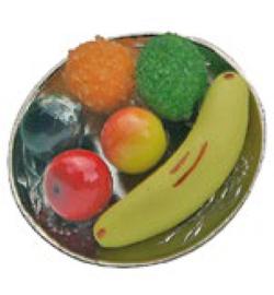 Miniatuur, Fruitschaal  Stafil 3,6 cm