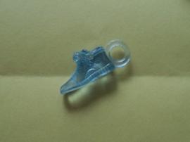 Schoentje baby, kunststof blauw