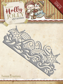 Die-Yvonne Creations- Holly Jolly- Snowflake Border