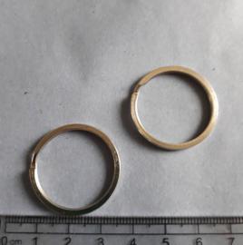 Sleutelring metaal 30 mm, Antiek zilverkleurig , 1702