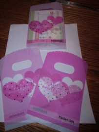 Mini tasje, Sweet heart Roze/ lila, art.003