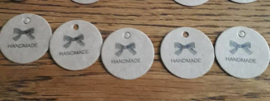 Craft labels, rond. Handmate-For You of Thank You