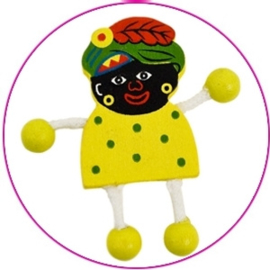 Zwarte Piet, hout, ca.5 cm.