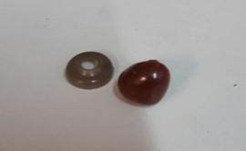 Neus zwart , bruin of Roze driehoek 15/12